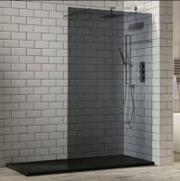 Frontline Aquaglass+ 10mm Tinted Walk-in Shower Enclosure 1200mm