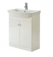 Frontline Aquapure Range 1 Gloss White 550mm Base Unit and Basin
