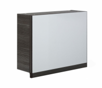 Frontline Aquatrend 500mm Avola Grey Gas-lift Mirror Cabinet with Integral Shelving