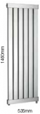 Arun Feature Towel Rail Sussex Stainless Steel 535 x 1460mm
