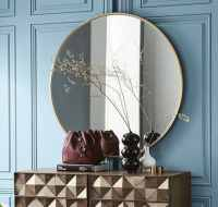 Docklands 600mm Round Framed Mirror 60 - Brushed Brass