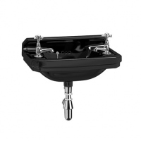 Burlington Jet Edwardian 515mm Cloakroom Basin - Jet Black