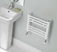 Biava White Towel Rail 360mm x 400mm - Eastbrook