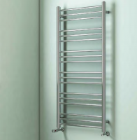 Biava Chrome Round Towel Rail 600mm x 400mm - Eastbrook