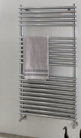 Biava Chrome Double Tube On Tube Towel Rail 600mm x 400mm - Eastbrook