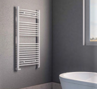 Biava White Curved Towel Rail 360mm x 400mm - Eastbrook