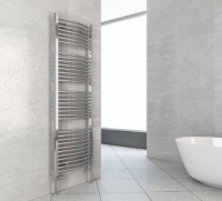 Biava Chrome Curved Towel Rail 360mm x 400mm - Eastbrook