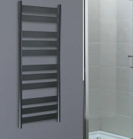 Redroom Anthracite Azor Designer Towel Radiator - 1200 x 500mm