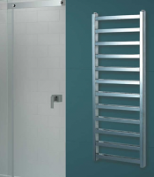 Redroom Baxx Chrome Designer Towel Radiator, 1400 x 500mm by Barwick