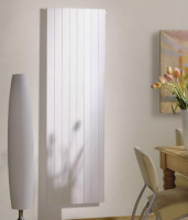 Redroom Nova Vertical White Designer Radiator with Fins, 1800 x 283mm by Barwick