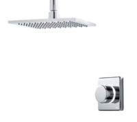 Contemporary 2025 Digital Shower - Single Ceiling Square Head - Standard (HP/Combi)