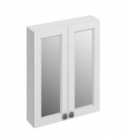 Burlington 60cm Matt White Double Door Mirror Cabinet