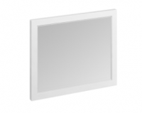 Burlington 90cm x 75cm Matt White Framed Mirror
