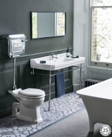 Burlington Low Level WC with Chrome Aluminium Cistern and Lever P2 T71CHR