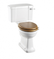 Burlington Close Coupled WC and White Ceramic Cistern with Lever P5 C1