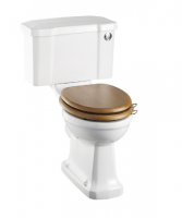 Burlington Close Coupled WC and White Ceramic Cistern with Chrome Push Button P5 C2