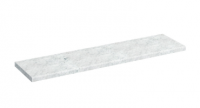 Minerva 1200mm Carrara White Marble Worktop by Burlington