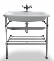 Burlington Natural Stone Basin with Chrome Wash Stand