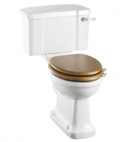 Burlington Rimless Slimline Close Coupled WC and White Ceramic Cistern with Lever P20 C3