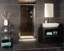 Roman Showers Collage Pivot Door 700mm - Silver