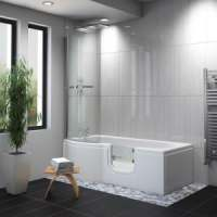 Carnelian Walk-in Shower Bath - Easy Access Bath Including Front Panel (1675 x 850/750mm)