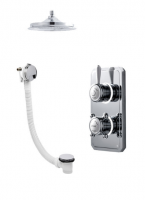 Classic 1910 Digital Shower - Ceiling Head & Bath Filler - Pumped (Gravity)