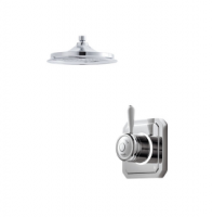 Bathroom Brands Classic Digital Shower with Ceiling Mounted Fixed Head - Pumped (Gravity)