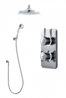 Classic 1910 Digital Shower - Dual Round Ceiling Head & HandSpray - Pumped (Gravity)