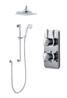 Classic 1910 Digital Shower - Dual Ceiling Head & Slide Bar Kit - Pumped (Gravity)