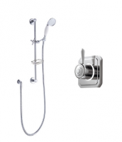 Bathroom Brands Classic Digital Shower with Slide Rail Kit and Soap Basket - Pumped (Gravity)