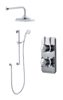 Classic 1910 Digital Shower - Dual Head Inc Slide Bar Kit - Pumped (Gravity)