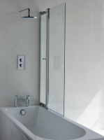 Cleargreen Hinged Bath Screen with Access Panel 1450 x 850mm