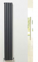 Linea Statement Compact Double Anthracite Radiator - 1800 x 236mm