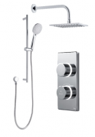 Contemporary 2025 Digital Shower - Dual Square Inc Riser - Standard (HP/Combi)