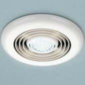HIB Cyclone White Illuminated Ceiling Fan Cool White LED