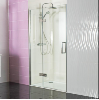 Decem Hinged Door Shower Enclosure 1000mm with Hinged In-line Panel for Alcove Fitting by Roman Showers
