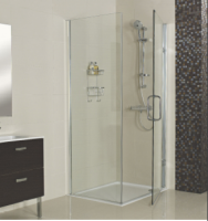 Decem Hinged Door Shower Enclosure 760mm Inc Side Panel for Corner Fitting - Roman Showers