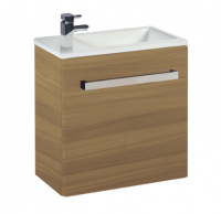 Frontline Aquatrend 460mm Modern Oak 1-Door Wall Hung Cloakroom Unit
