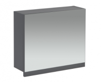Frontline Aquatrend 500mm Dust Grey Gas-lift Mirror Cabinet with Integral Shelving