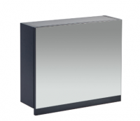 Frontline Aquatrend 500mm Matt Indigo Gas-lift Mirror Cabinet with Integral Shelving