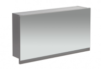 Frontline Aquatrend 750mm Dust Grey Gas-lift Mirror Cabinet with Integral Shelving