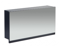 Frontline Aquatrend 750mm Matt Indigo Gas-lift Mirror Cabinet with Integral Shelving