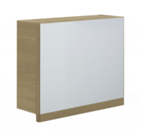 Frontline Aquatrend 500mm Modern Oak Gas-lift Mirror Cabinet with Integral Shelving