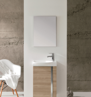 Royo Elegance 455mm Floorstanding Cloakroom Unit with Mirror in Walnut