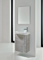 Royo Elegance 455mm Wall Hung Cloakroom Unit with Mirror in Sandy Grey