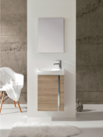 Royo Elegance 455mm Wall Hung Cloakroom Unit with Mirror in Walnut