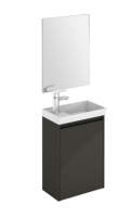 Royo Enjoy 450mm Wall Hung Cloakroom Unit and Mirror in Anthracite