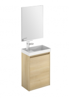 Royo Enjoy 450mm Wall Hung Cloakroom Unit and Mirror in Nordic Oak