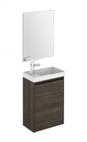 Royo Enjoy 450mm Wall Hung Cloakroom Unit and Mirror in Samara Ash
