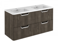 Royo Life 1200mm 4 Drawer Wall Unit and Ceramic Basin in Samara Ash